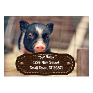 Piebald Pig puppy for Pig Lovers Large Business Card