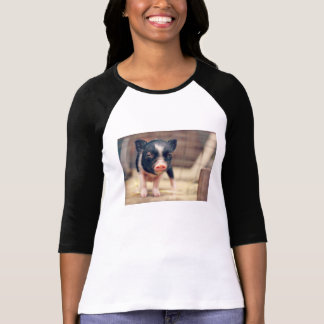 Piebald Pig puppy for Pig Lovers T-Shirt
