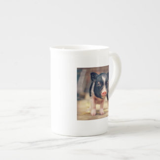 Piebald Pig puppy for Pig Lovers Tea Cup