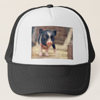 Piebald Pig puppy for Pig Lovers Trucker Hat
