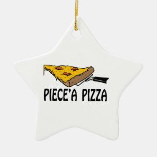 Piece' A Pizza Ceramic Ornament