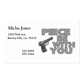 Piece Be With You Double-Sided Standard Business Cards (Pack Of 100)