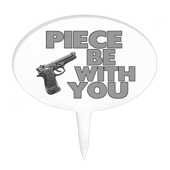 Piece Be With You Cake Topper