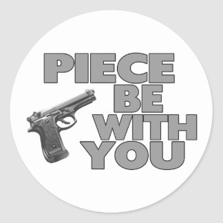 Piece Be With You Classic Round Sticker