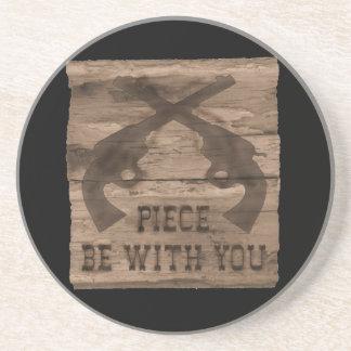Piece Be With You Double Gun Coaster