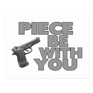 Piece Be With You Postcard