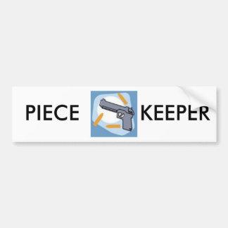 Piece Keeper Bumper Sticker