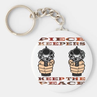 Piece Keepers Keep The Peace Basic Round Button Keychain