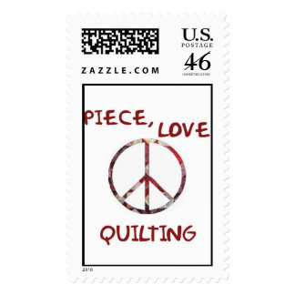 Piece, Love and Quilts Postage