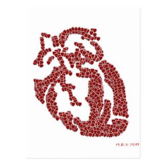 Piece O' My Hearts Postcard