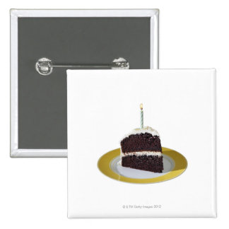 Piece of Birthday Cake 2 Inch Square Button