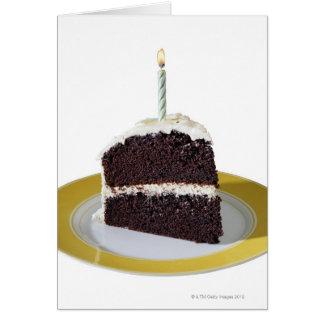 Piece of Birthday Cake Greeting Card