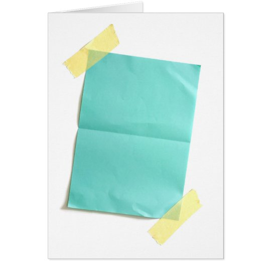 Piece of blank colored paper card