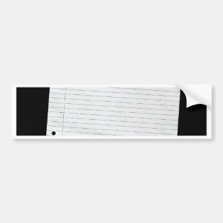 Piece of blank writing paper bumper sticker