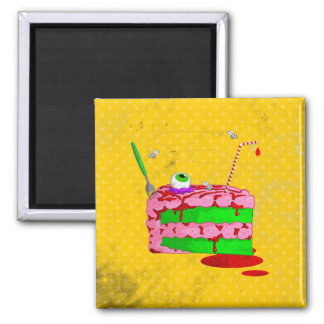 Piece Of Cake 2 Inch Square Magnet