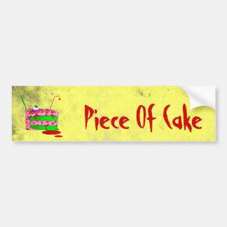 Piece Of Cake Bumper Sticker