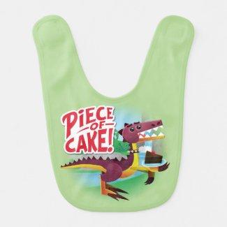 Piece of Cake Dinosaur Baby Bib