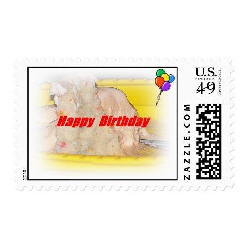 Piece Of Cake Happy Birthday Postage