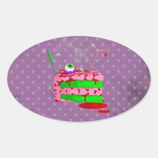Piece Of Cake Oval Sticker