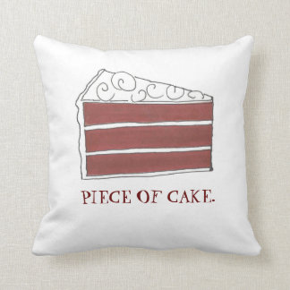 Piece of Cake Red Velvet Layer Slice Foodie Pillow