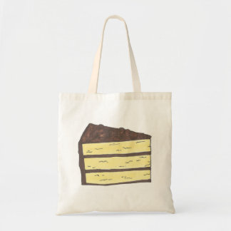 Piece of Cake Yellow Chocolate Layer Slice Tote