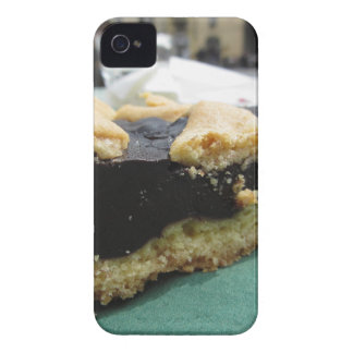Piece of chocolate cake on green paper napkin Case-Mate iPhone 4 case