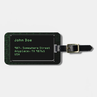 Piece of information bag tag