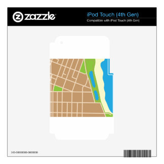 Piece of map decal for iPod touch 4G