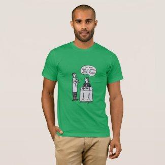 Piece of Music Cartoon Funny Joke Restaurant T-Shirt