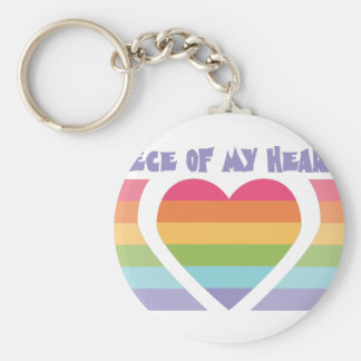 Piece Of My Heart Basic Round Button Keychain
