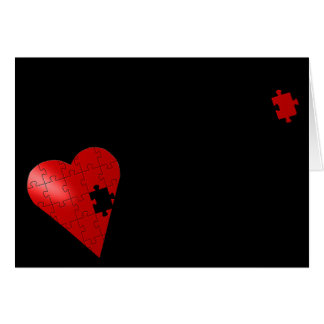 Piece of my heart greeting card