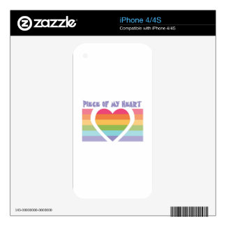 Piece Of My Heart iPhone 4 Skin