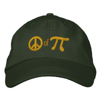Piece of Pie as in Peace of Pi Embroidered Baseball Cap