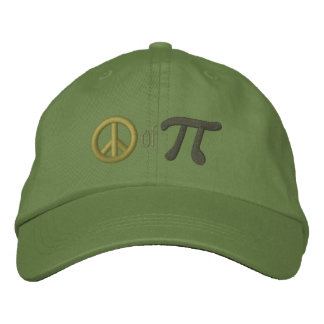 Piece of Pie as in Peace of Pi Embroidered Hat