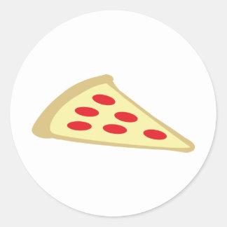 piece of pizza classic round sticker
