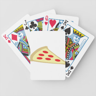 piece of pizza poker cards