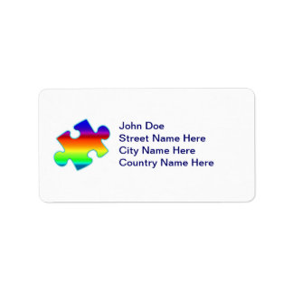 Piece of Rainbow Label