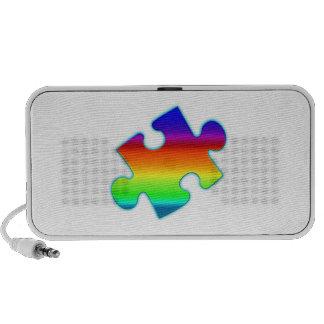Piece of Rainbow Notebook Speakers