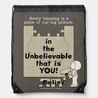 Piece of the Big Picture Drawstring Backpack
