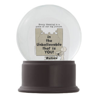 Piece of the Big Picture Snow Globe