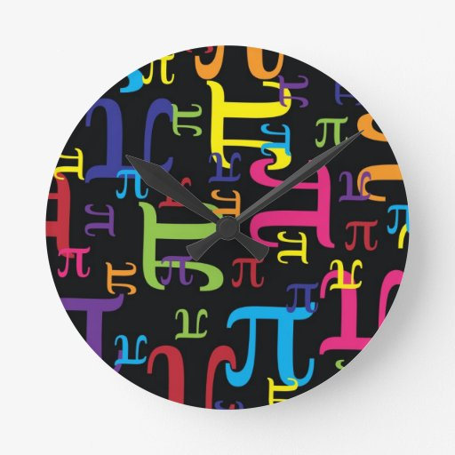 Piece of the Pi Round Wall Clock