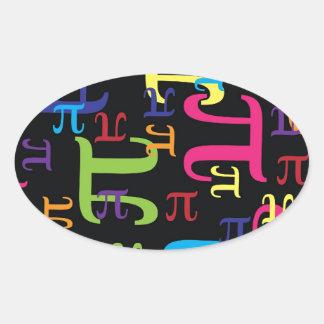 Piece of the Pi Oval Sticker