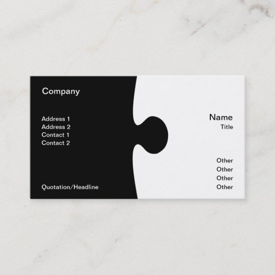 Piece of the puzzle business card zazzle piece of the puzzle business card colourmoves