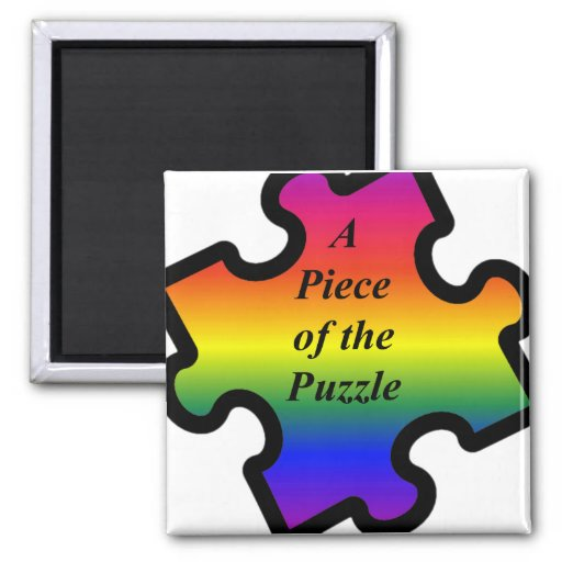 Piece of the Puzzle Fridge Magnets
