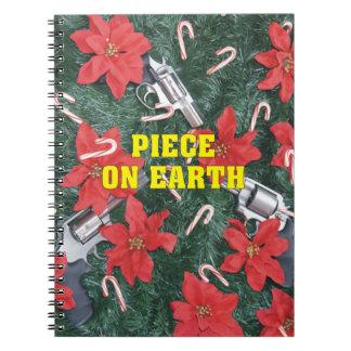 Piece On Earth Gun Christmas Notebook