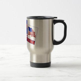 PIECE  (PEACE)  LOVE (HEART)  FREEDOM (USA FLAG) COFFEE MUG