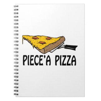 Piece una pizza libros de apuntes con espiral