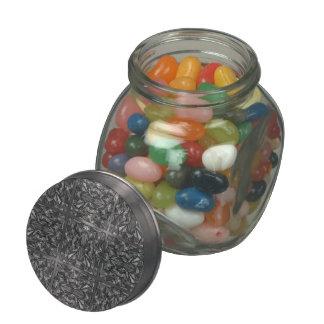 PiecedLayered 2x2 BandW Glass Jars