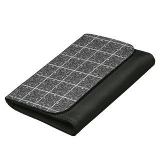 PiecedLayered 2x2 BandW Leather Wallets