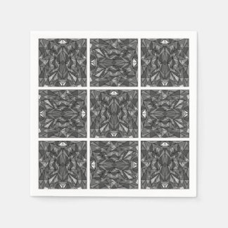 PiecedLayered 2x2 BandW Paper Napkin